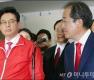 홍준표, '한국당 재건 만족'