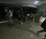 폭우에 정전된 병원