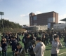 포항 5.4 지진, 밖으로 대피한 학생들