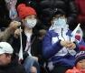 쇼트트랙 응원하는 이병헌-이민정 부부