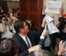 경실련 등 시민단체, 은산분리 반대 국회 기습시위