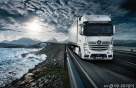 벤츠트럭, 보행자 보면 멈추는 첨단기술 세계 최초로 선보여