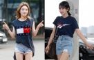 청하 vs 소미, '네이비+디스트로이드 데님' 패션 승자는?