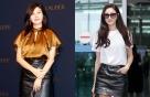 김하늘 vs 김사랑, '블랙 레더 스커트' 대결…승자는?