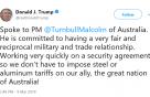 트럼프, 관세 부과 하루만에 호주 '예외국' 선정