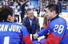 文대통령 내외, 패럴림픽 아이스하키 첫 '銅'에 환호-눈물