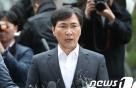 """'성폭행 혐의' 안희정, 2차 檢 조사 마쳐…""""성실히 임했다""""(종합)"""