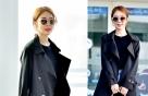 유인나의 시크한 트렌치코트 패션…포인트는 '레드'