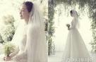 '결혼' 최지우, 전세계 하나뿐인 웨딩드레스 입었다