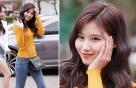 트와이스 사나, 산뜻한 옐로 패션…여성미 '물씬'