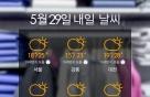 [내일뭐입지?] 구름 많고 흐린 날, 화사한 '연보라' 코디