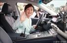 [사진]자율주행차 시승한 김현미 장관