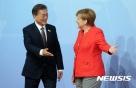 文대통령, 獨 메르켈과 회담…한반도 평화정책 지지 약속