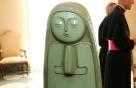文대통령이 교황에게 선물한 '성모마리아상-예수 부조' 공개