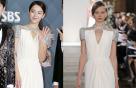 신혜선 vs 모델, 같은 드레스 다른 느낌…우아함 '물씬'