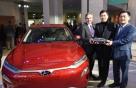[사진]현대차 코나·제네시스 G70 '북미 올해의 차' 수상 현장