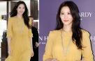 수현, 봄이 온 듯 화사한 패션…액세서리 '포인트'