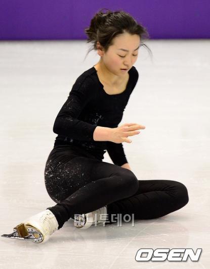 [사진]아사다 마오, '앗! 나의 실수'