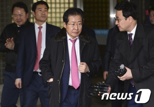 [사진]홍준표 지사 '성완종 리스트 의혹 항소심 무죄'