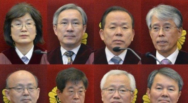 """[풀영상]헌법재판소 """"박근혜 대통령을 파면한다"""""""