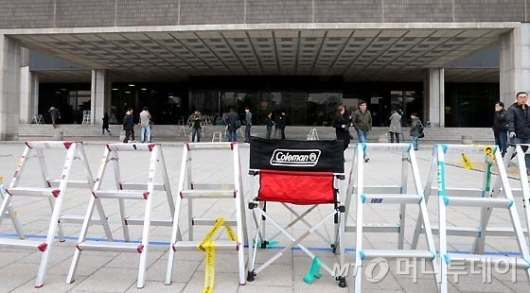 [사진]박근혜 전 대통령 소환 D-1