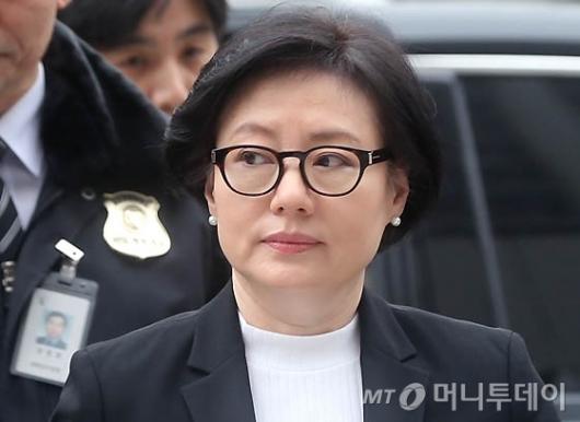 [사진]서미경, 귀국 후 법원 출석