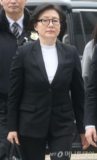 [사진]신격호 회장 부인 서미경 씨 법원 출석