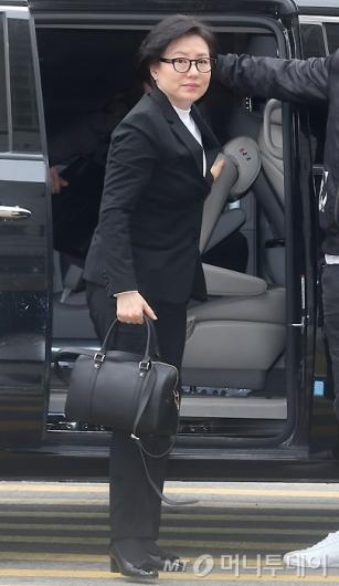 [사진]법원 출석하는 서미경씨