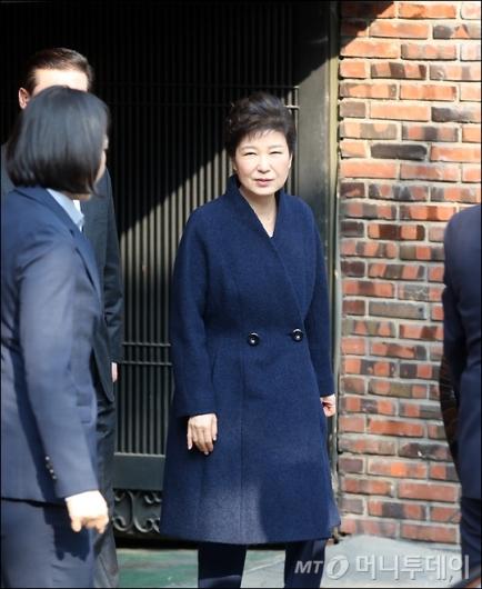 [사진]검찰 향하는 박근혜 전 대통령