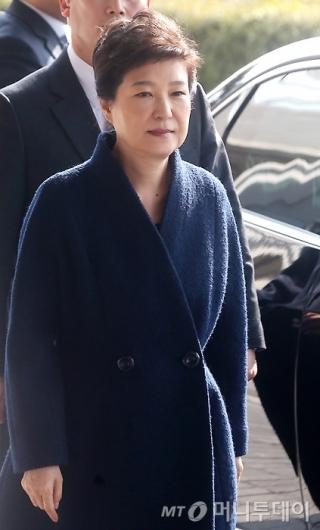 [사진]검찰 출석하는 박근혜 전 대통령