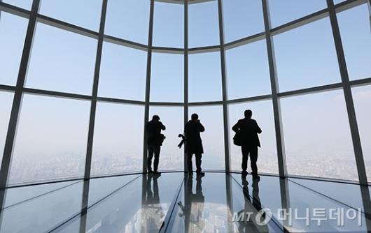 [사진]세계 3위 높이 전망대 '서울스카이'