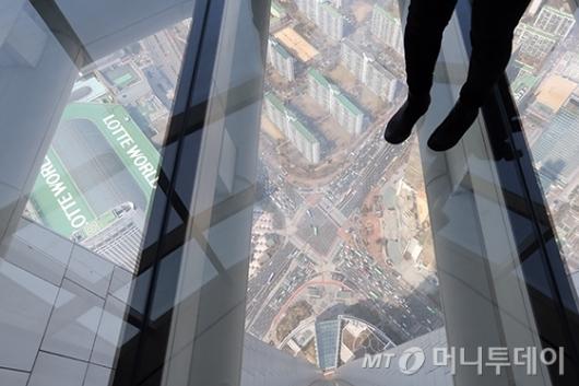 [사진]아찔한 '서울스카이' 전망대