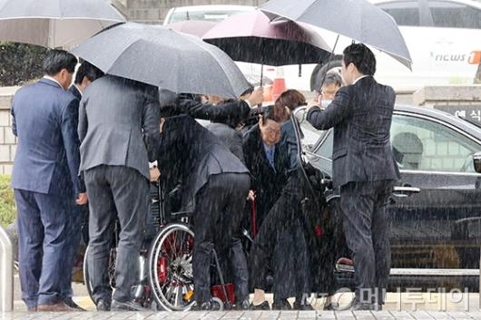 [사진]법원 도착한 신격호 회장