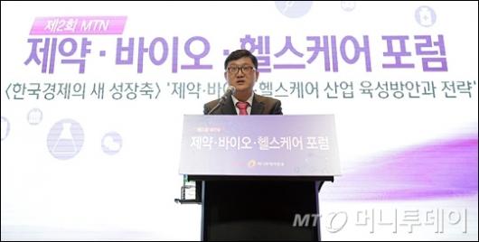 [사진]환영사하는 최남수 머니투데이방송 대표이사