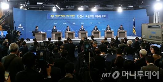 [사진]안철수 대선후보 초청 방송기자클럽 토론회