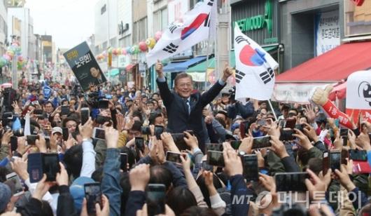[사진]문재인, 원주 거리유세