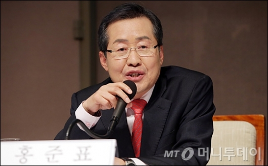 [사진]홍준표 후보, '안철수 후보와 단일화 없다'