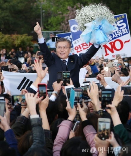 [사진]인천 찾은 문재인 후보