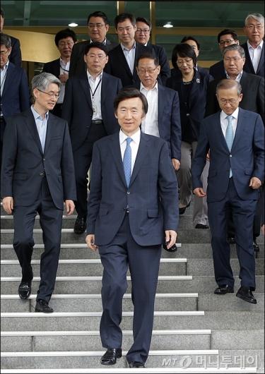 [사진]외교부 떠나는 윤병세 전 장관