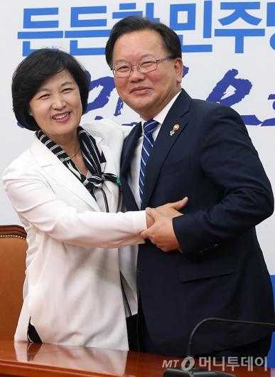 [사진]김부겸 장관, 추미애 대표 예방