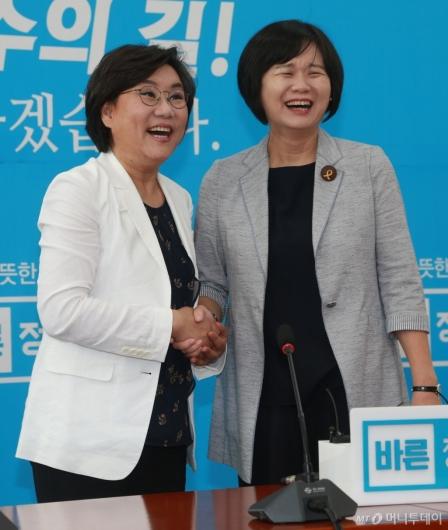 [사진]이정미-이혜훈 '국회 우먼파워'
