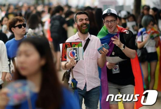 [사진]퀴어축제 참가한 외국인들