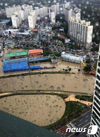 [사진]물폭탄 쏟아진 청주는 물의 도시