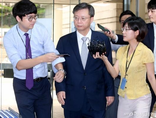 [사진]법정 향하는 우병우 전 수석