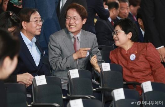 [사진]제헌절 경축식 참석한 박원순-조희연-정현백