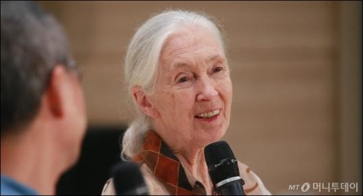 [사진]제인 구달 '침팬지 할머니의 에코 토크'