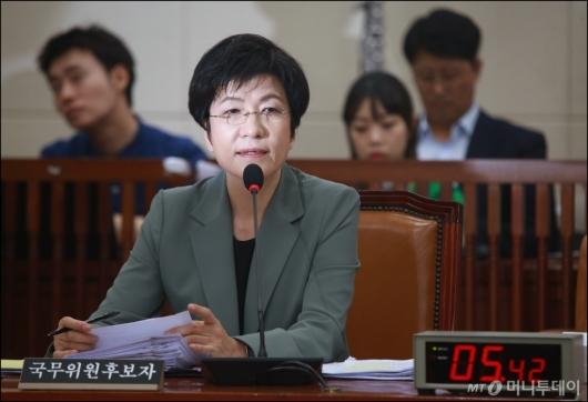 [사진]증여세 탈루 의혹 받는 김영주 고용노동부 장관 후보자