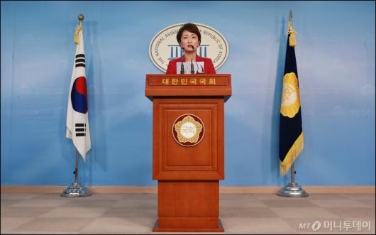 [사진]이언주 원내수석, 당대표 출마 선언