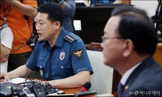 [사진]모두발언하는 이철성 경찰청장