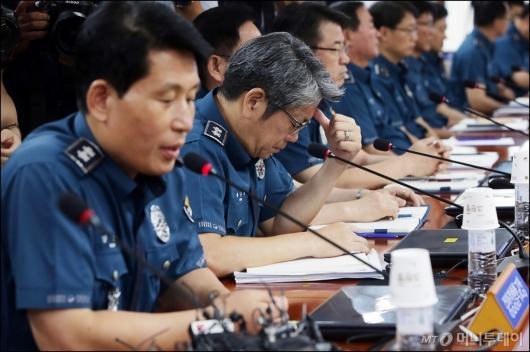 [사진]침울한 경찰 지휘부